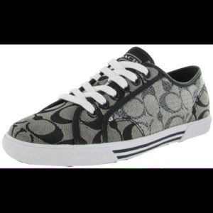 Coach Kameron sneakers black and white 5 B